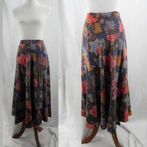 80's Vintage Ellen Tracy Silk Wrap Skirt Sz 8